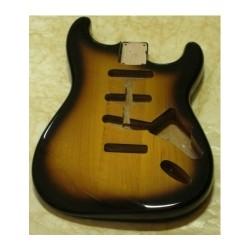 Body per Stratocaster in Alder sunburst due toni