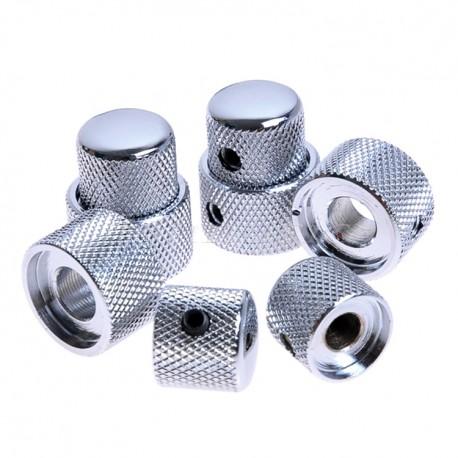 Dome knob cromato stacked set screw